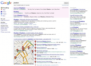 plumber Google Search 300x219 - New Google features: local listings news