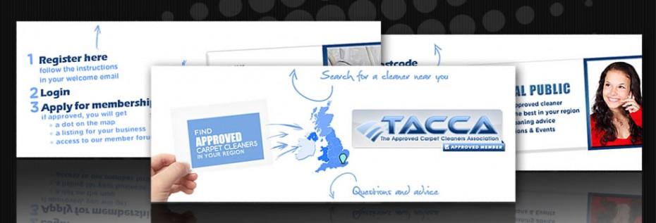 Portfolio BG TACCA2 - Graphic design for UK trade association