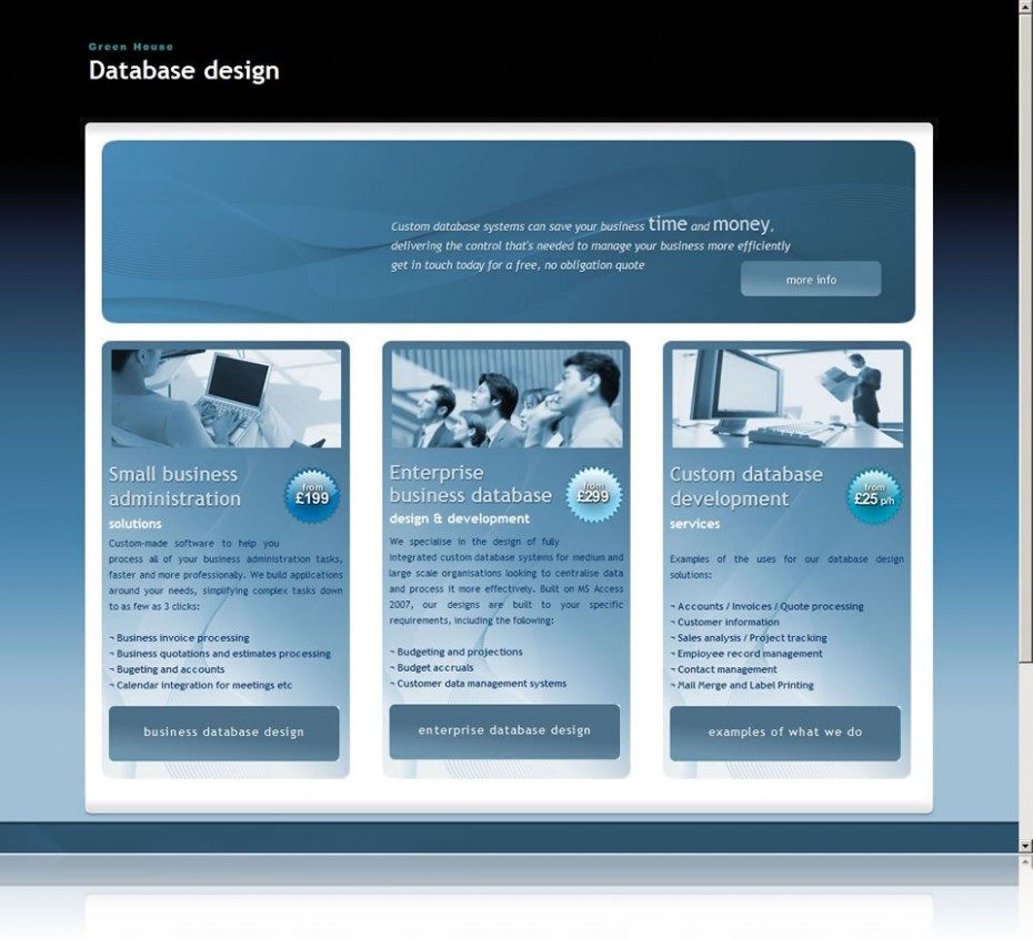 preview096 - Website design for database design company