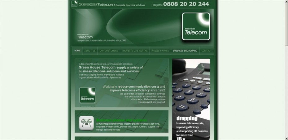 preview116 - Website design for telecoms company