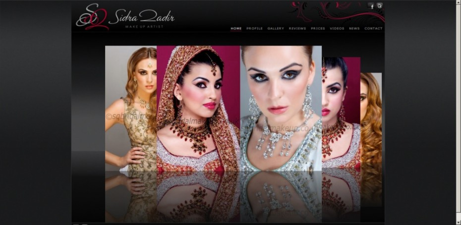 preview118 - Website design for professional UK Makeup artist