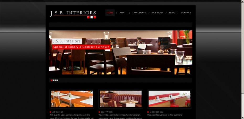 Website design for furniture manufacturer