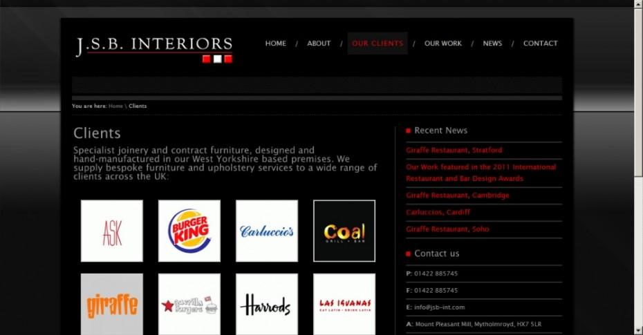 Interior designer webdesign