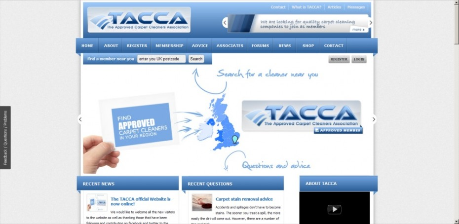 Cleaning Company Trade association Webdesign