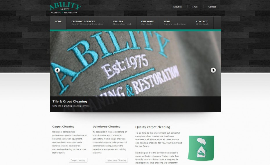178 - Cleaning company website design service