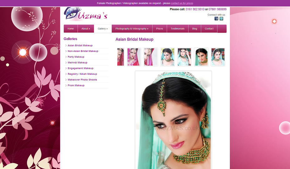 webdesign bridal makeup artists2 - Webdesign for bridal artist and photography company