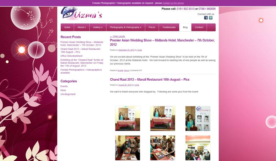 webdesign bridal makeup artists4 - Webdesign for bridal artist and photography company