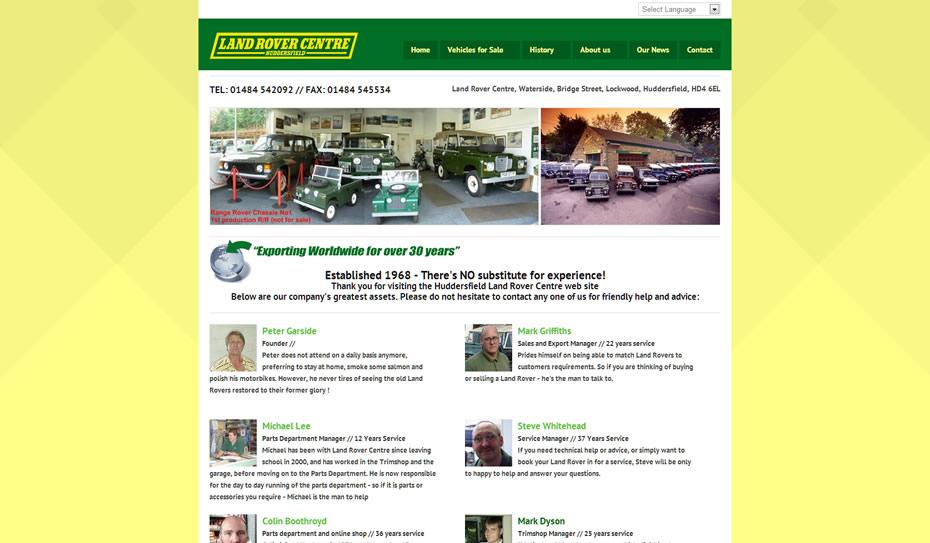 webdesign car dealership - Webdesign for Land Rover car dealership