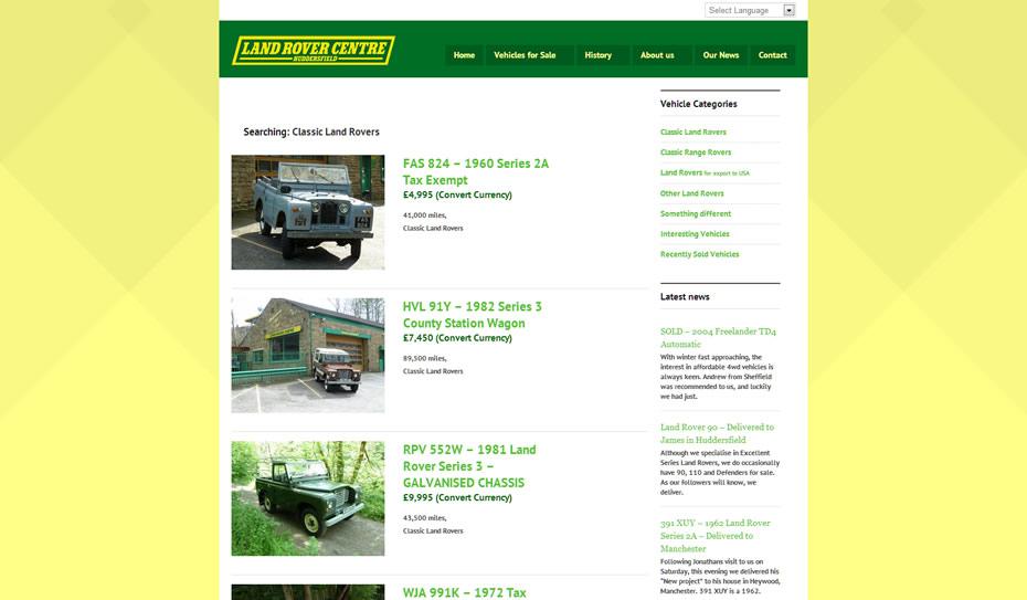 webdesign car dealership2 - Webdesign for Land Rover car dealership