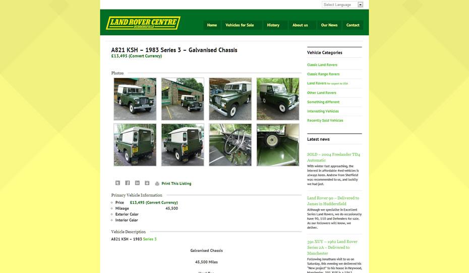 webdesign car dealership3 - Webdesign for Land Rover car dealership