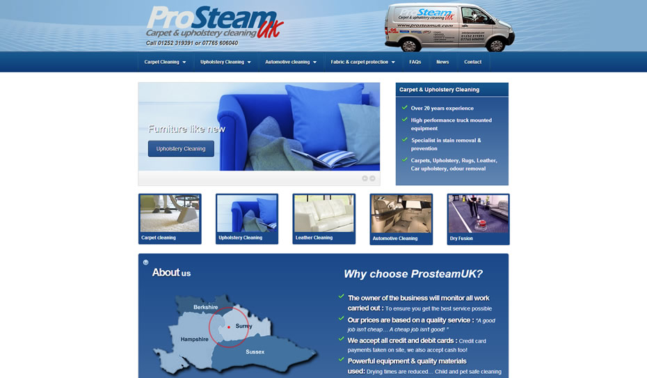 webdesign carpet cleaning services company - Web design for Carpet Cleaners