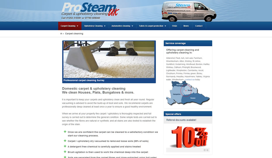 webdesign carpet cleaning services company1 - Web design for Carpet Cleaners