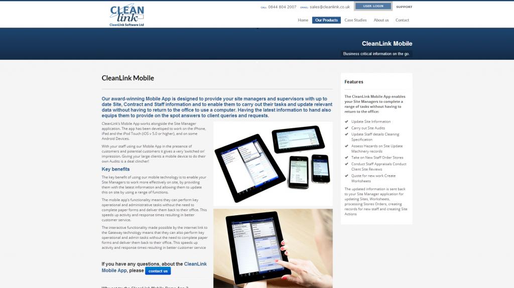 webdesign for software developers service portfolio 1