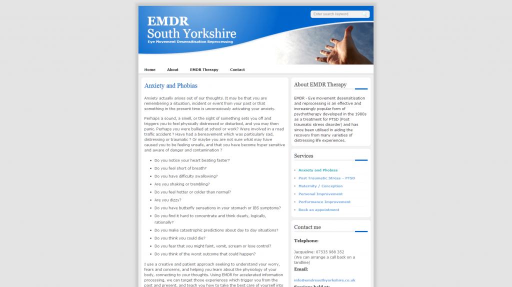 emdrshouthyorkshire - Website design for counselling service providers