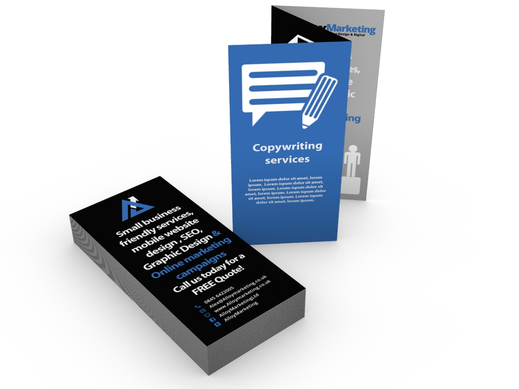 ALLOY STATIONERY foldBooklets14x3 - Folded Leaflet Printing printing