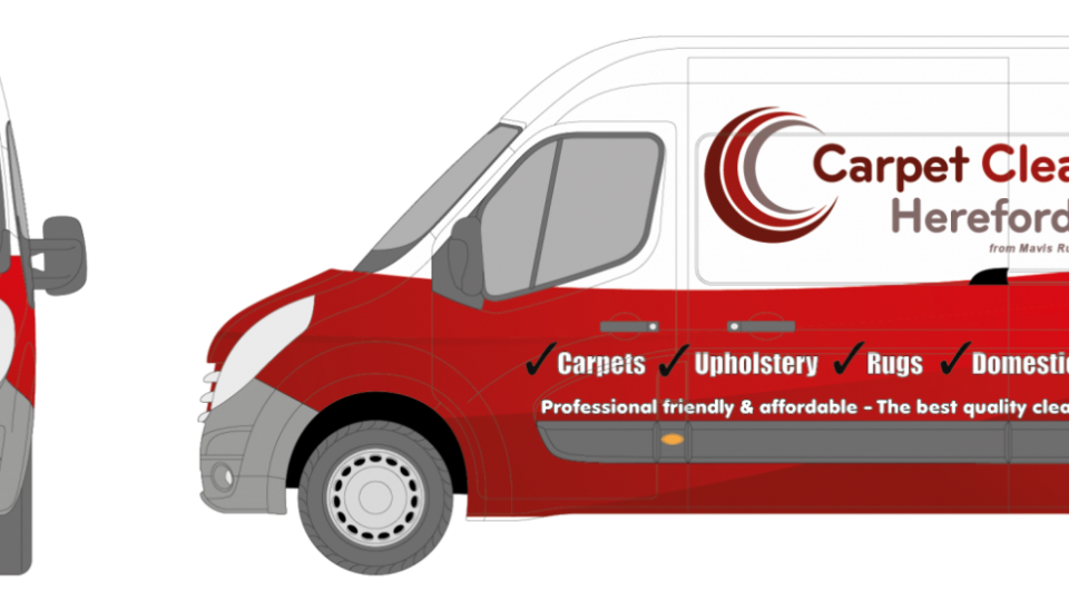 Vehicle wrap design for facilities maintenance company