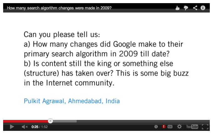 How often does the Google algorithm change?
