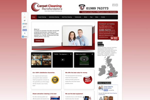 Screen Shot 2013 12 23 at 16.22.15 600x400 - Website design for floorcare company