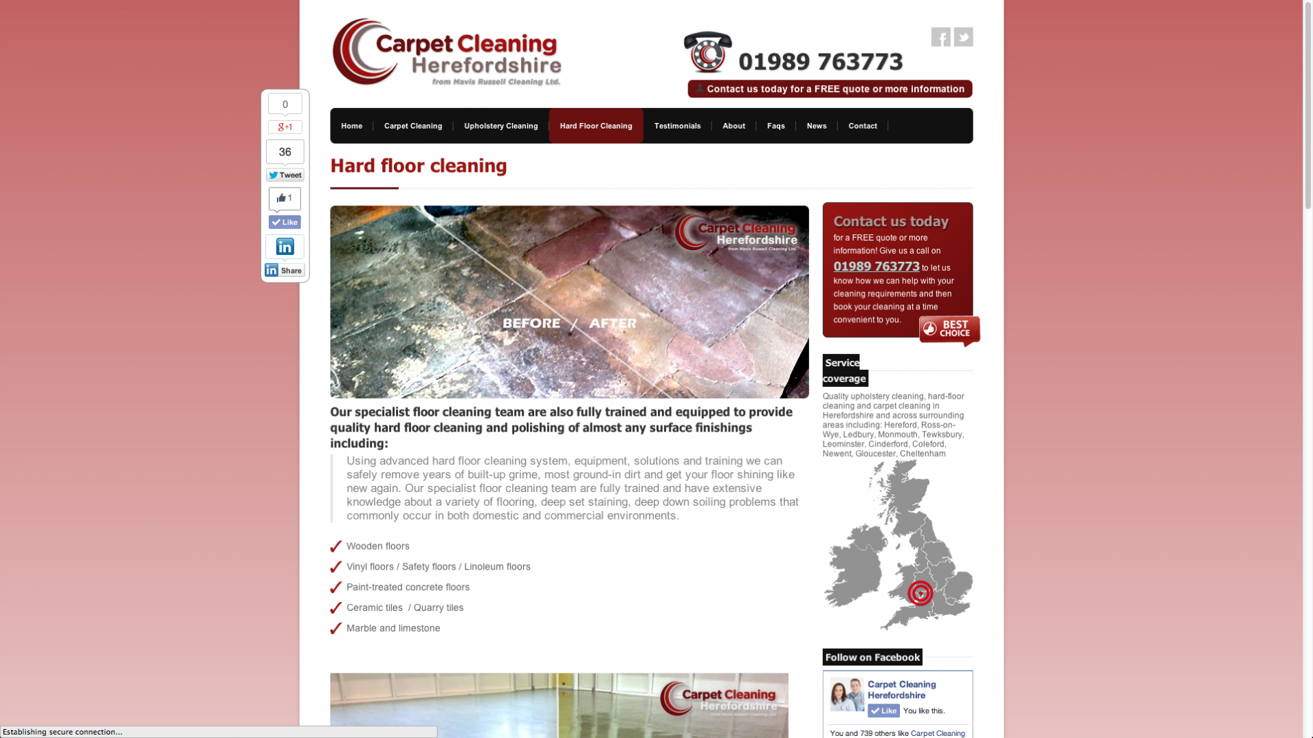 Screen Shot 2013 12 23 at 16.22.26 - Website design for floorcare company