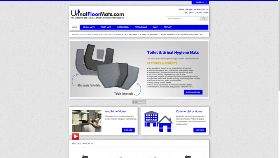Webdesign for cleaning equipment suppliers