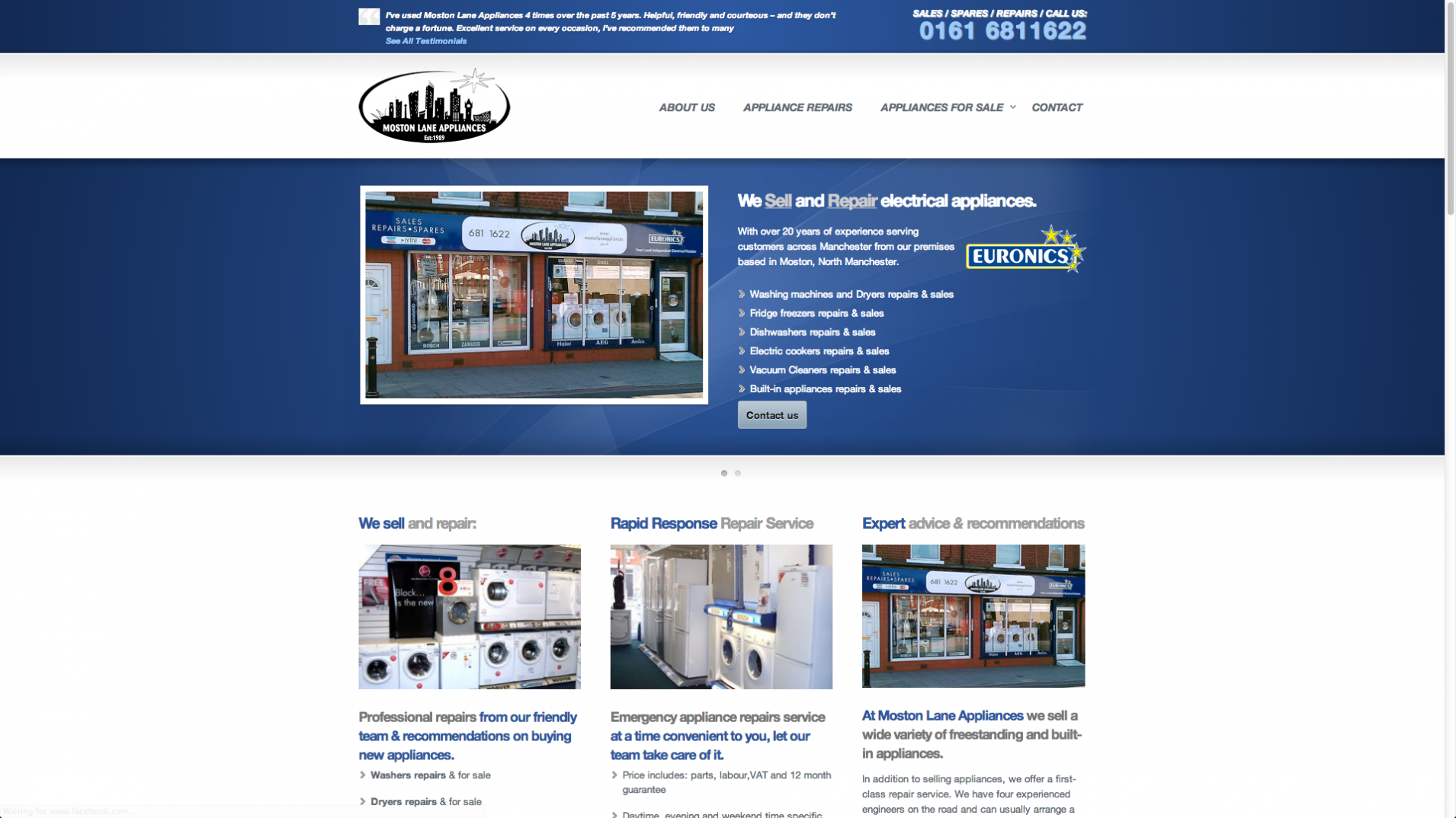 Screen Shot 2013 12 23 at 16.31.05 - Webdesign for appliance repairs company