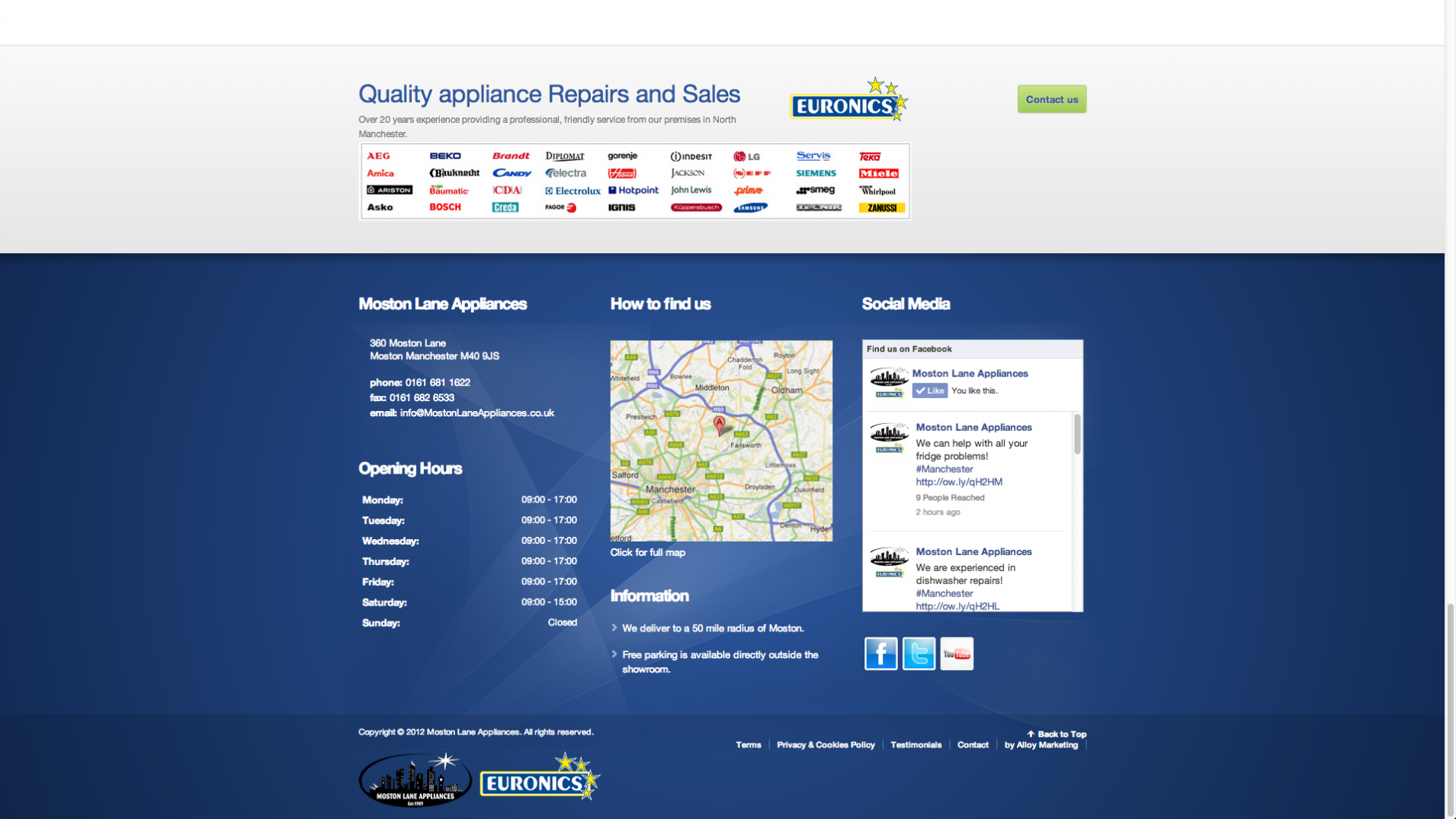 Screen Shot 2013 12 23 at 16.31.08 - Webdesign for appliance repairs company