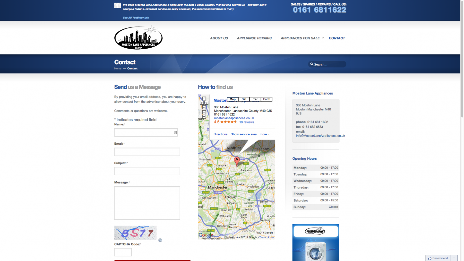 Screen Shot 2013 12 23 at 16.31.15 - Webdesign for appliance repairs company