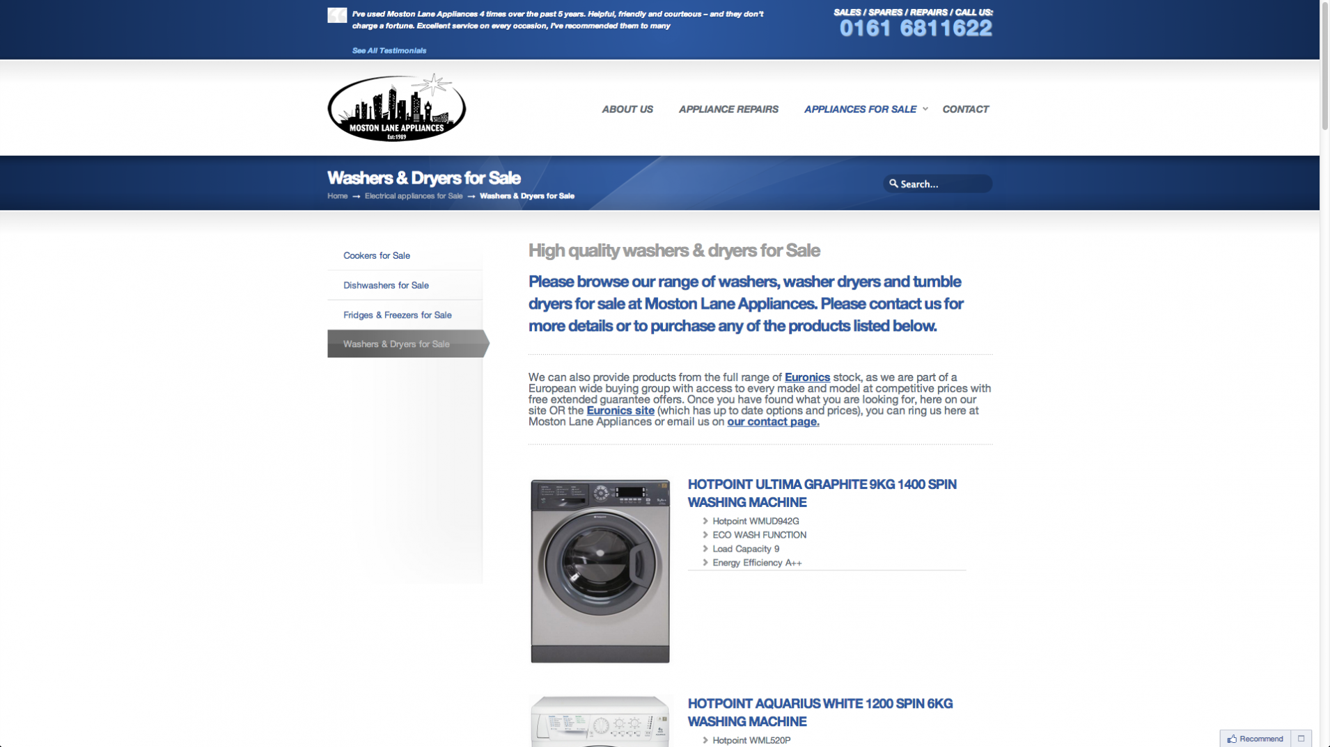 Screen Shot 2013 12 23 at 16.31.22 - Webdesign for appliance repairs company