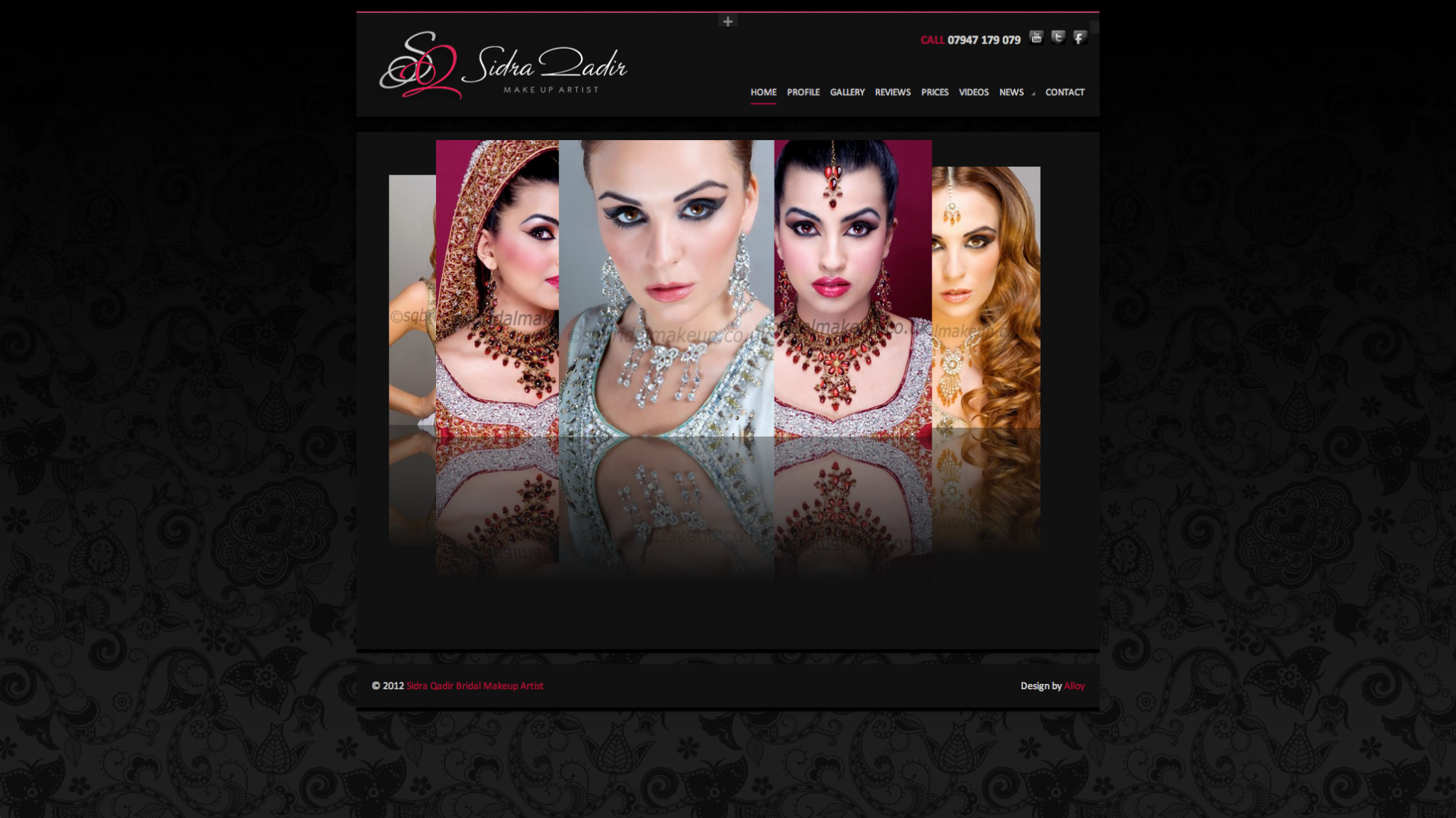Screen Shot 2013 12 23 at 16.34.47 - Website design for professional UK Makeup artist