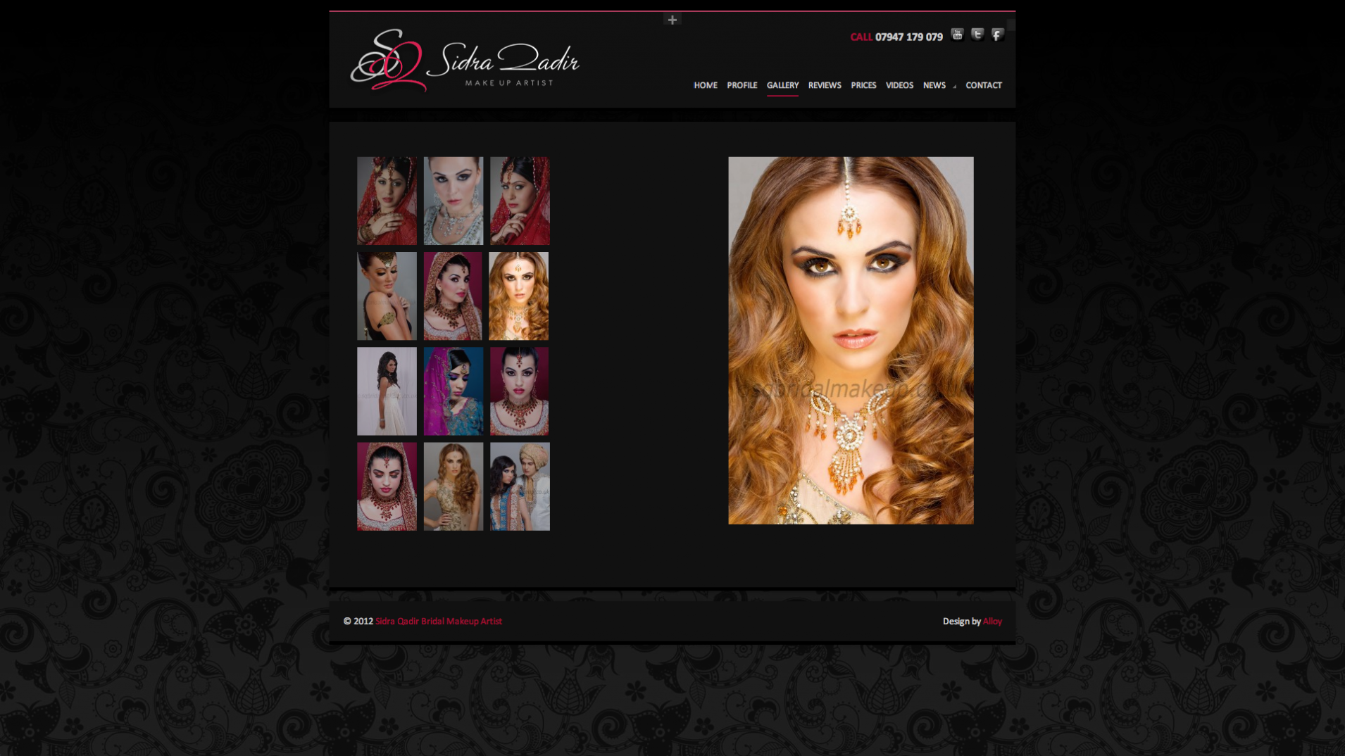 Screen Shot 2013 12 23 at 16.34.58 - Website design for professional UK Makeup artist