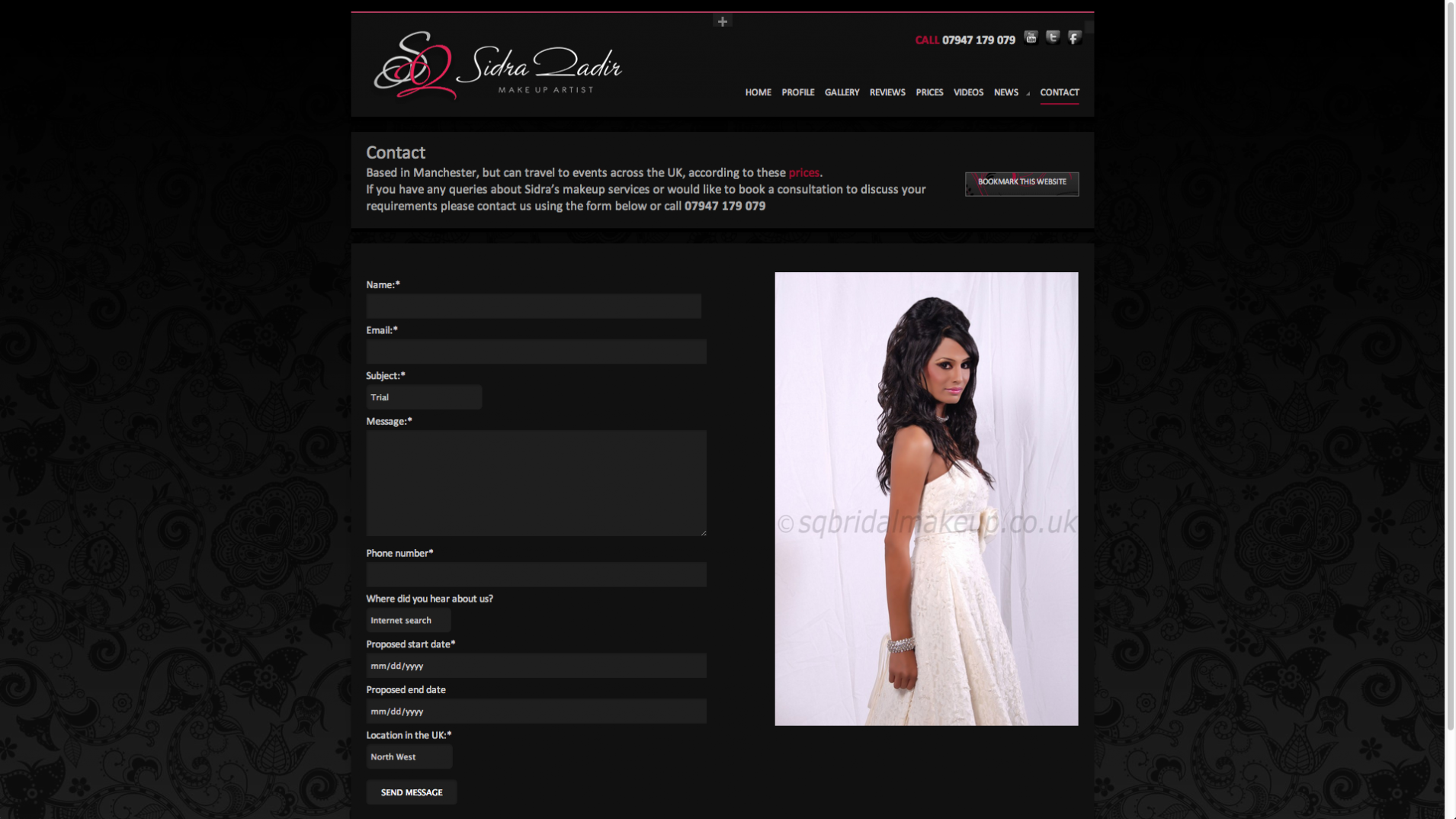 Screen Shot 2013 12 23 at 16.35.07 - Website design for professional UK Makeup artist
