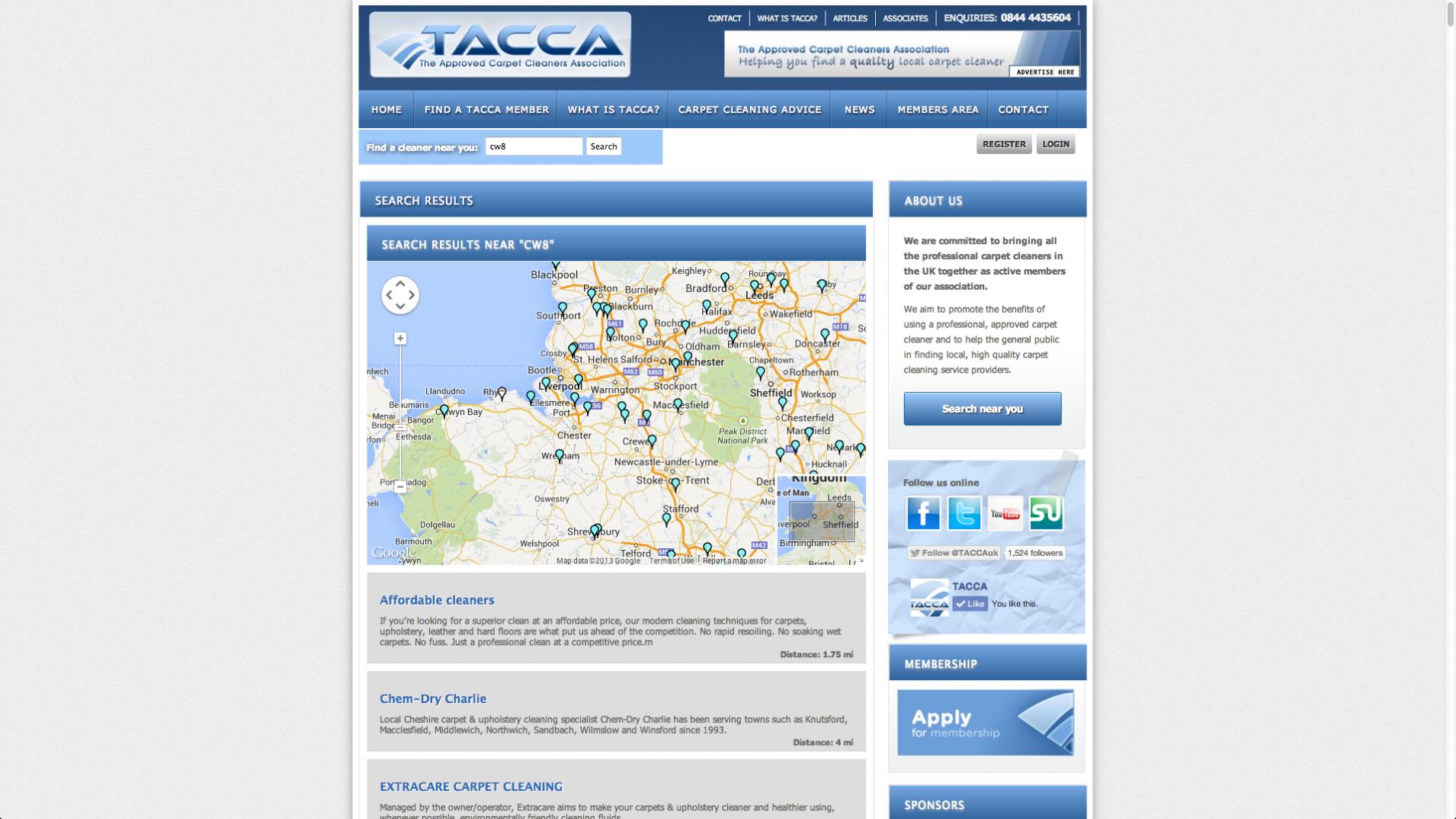 Screen Shot 2013 12 23 at 16.36.41 - Webdesign for UK trade association