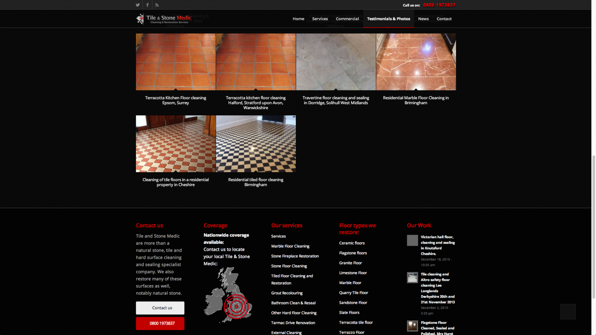 Screen Shot 2013 12 23 at 16.37.30 - Website design for nationwide stone floor restoration company
