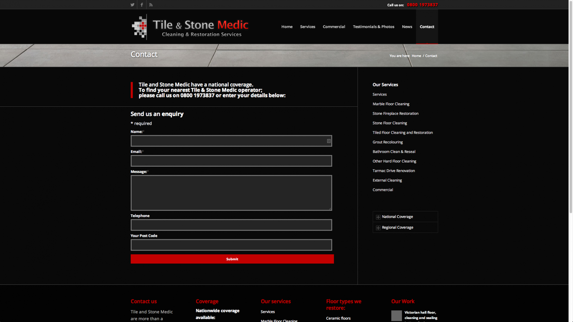 Screen Shot 2013 12 23 at 16.37.47 - Website design for nationwide stone floor restoration company