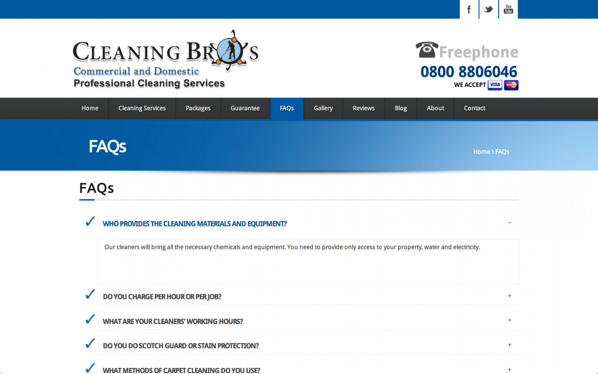 Screen Shot 2014 05 27 at 16.40.14 - Webdesign for commercial cleaning service provider