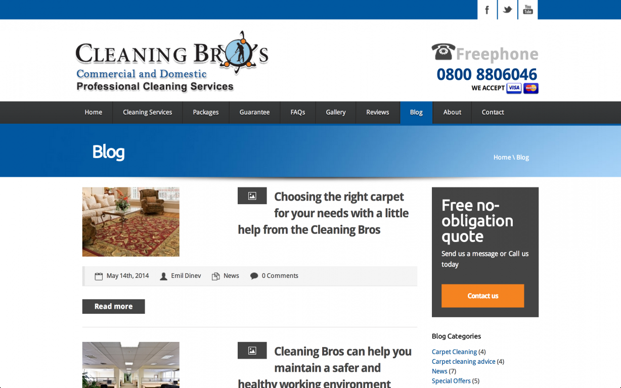Screen Shot 2014 05 27 at 16.40.23 - Webdesign for commercial cleaning service provider