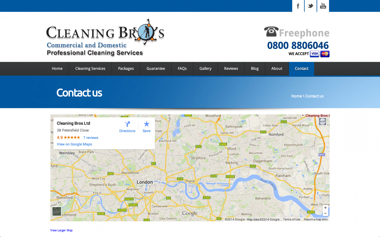 Screen Shot 2014 05 27 at 16.40.43 - Webdesign for commercial cleaning service provider