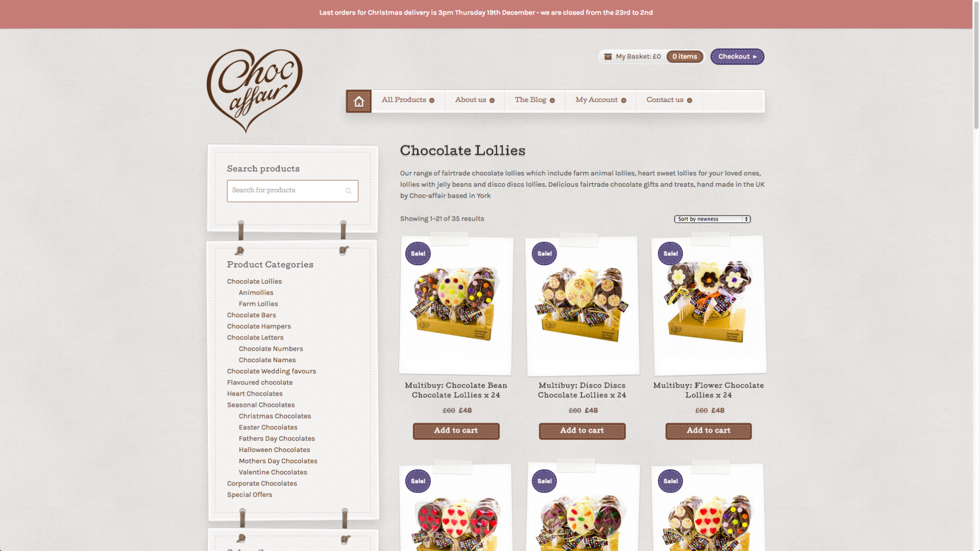 Screen Shot 2013 12 23 at 16.24.45 - Website redesign for chocolate manufacturer