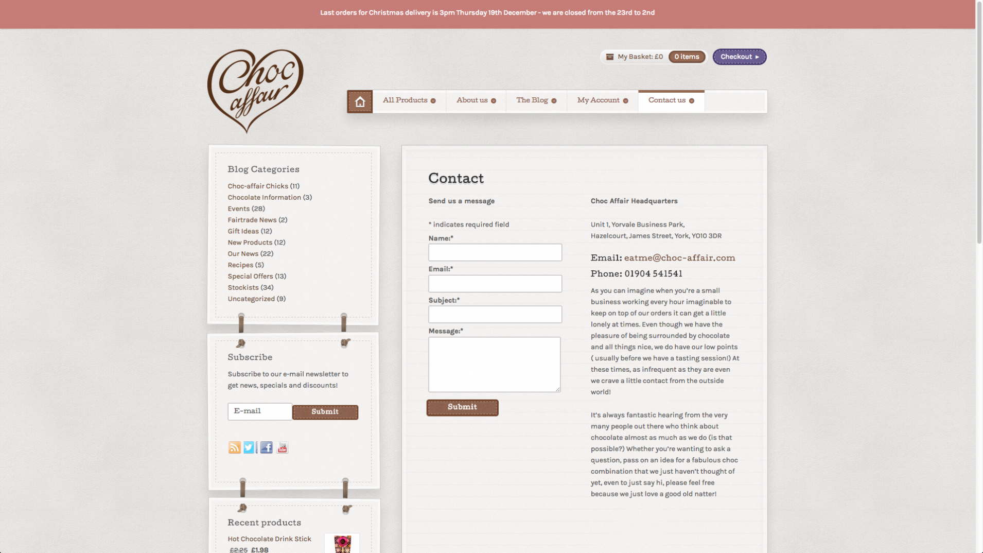 Screen Shot 2013 12 23 at 16.24.52 - Website redesign for chocolate manufacturer