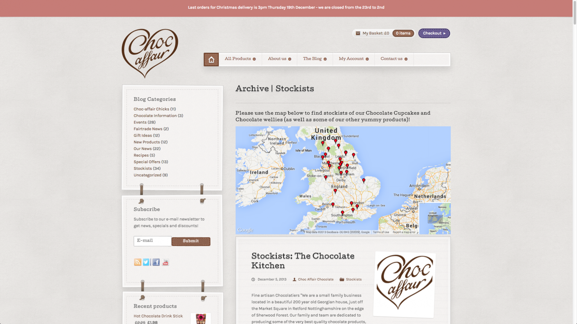 Screen Shot 2013 12 23 at 16.25.03 - Website redesign for chocolate manufacturer