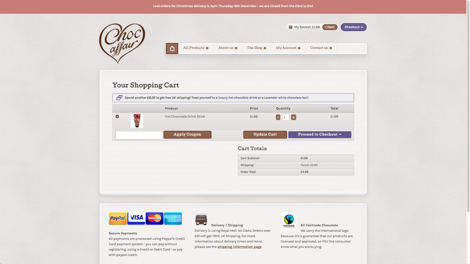Screen Shot 2013 12 23 at 16.25.40 - Website redesign for chocolate manufacturer