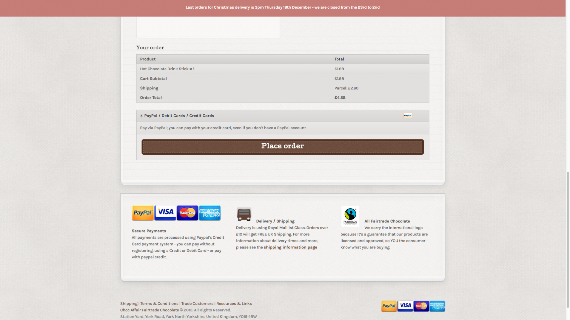 Screen Shot 2013 12 23 at 16.25.52 - Website redesign for chocolate manufacturer