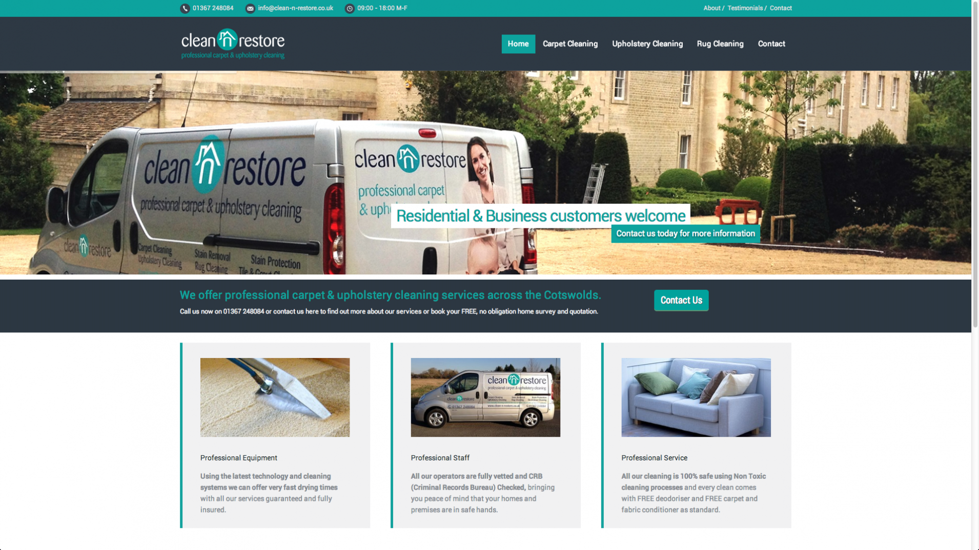 Screen Shot 2013 12 23 at 16.26.39 - Cleaning company website design service