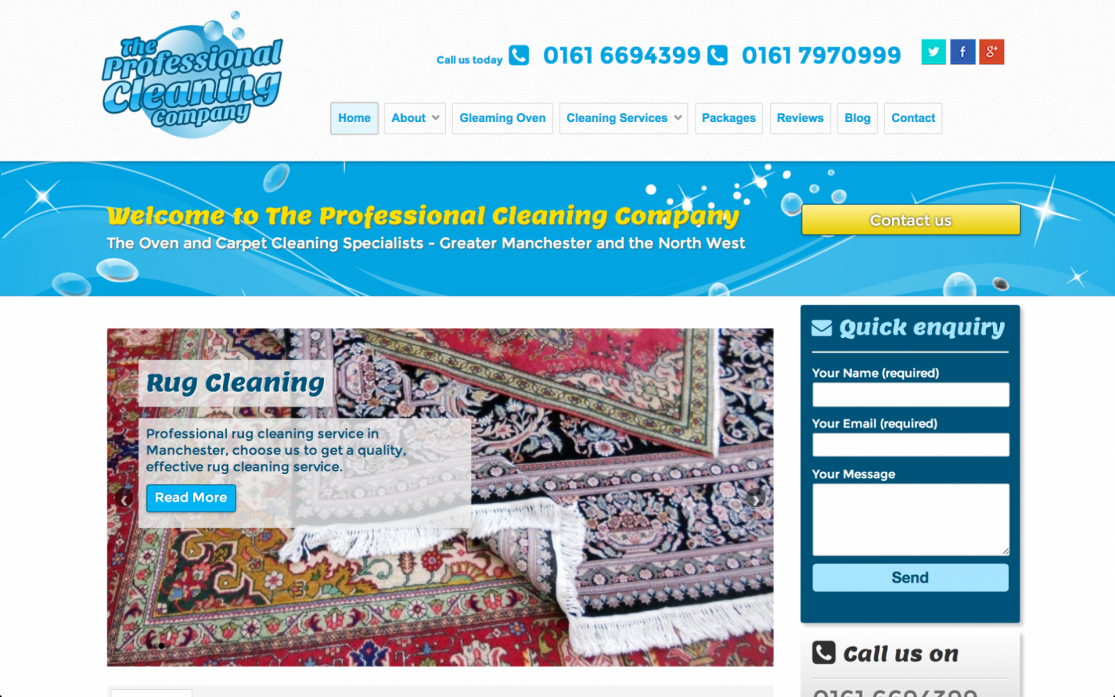 PCC rug clean e1470361204152 - Cleaning company website design service