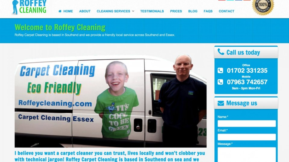 Webdesign for upholstery & carpet cleaning specialist