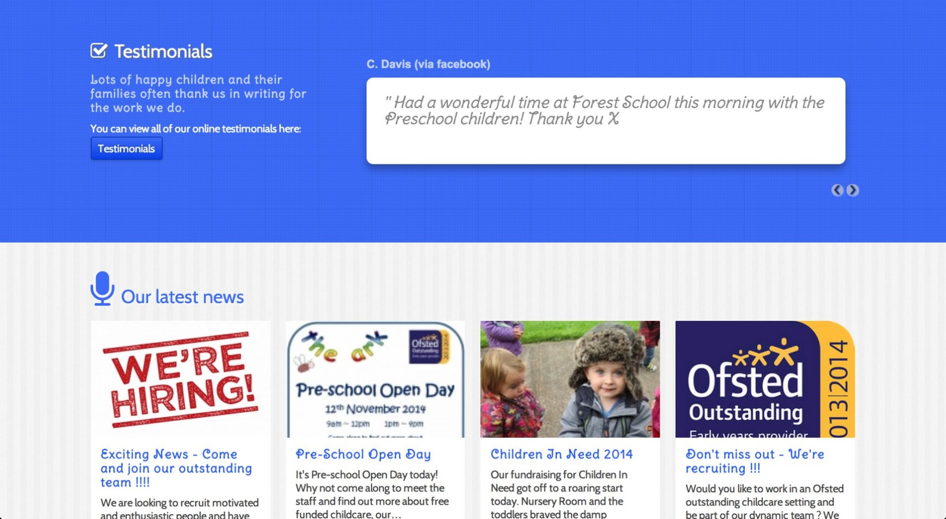 Screen Shot 2014 11 25 at 16.30.04 1 - Webdesign for nursery and childcare centre