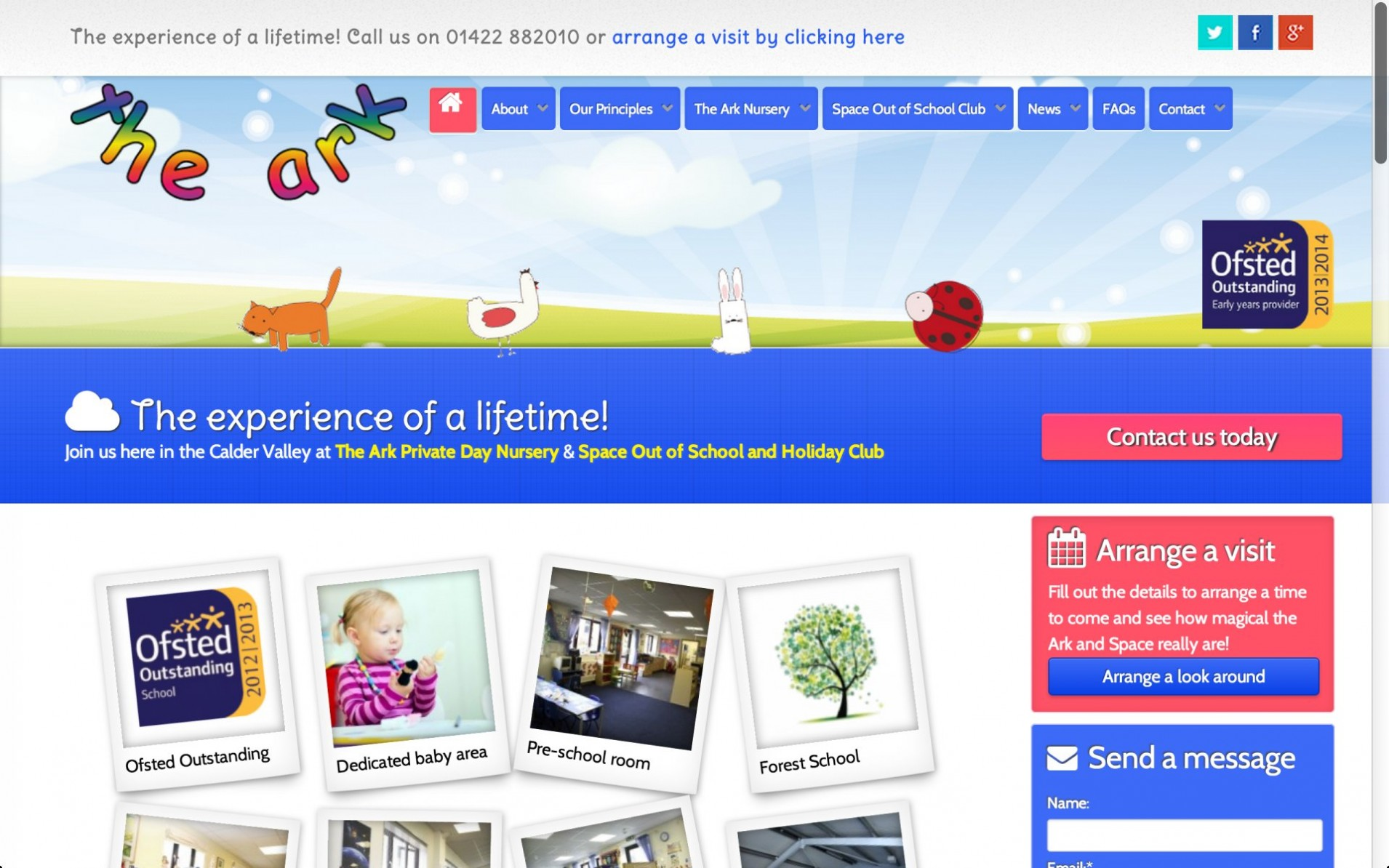 TAE 1 - Webdesign for nursery and childcare centre