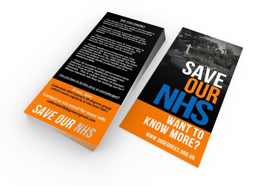 box 38d3 - Non-profit charity campaign flyer design