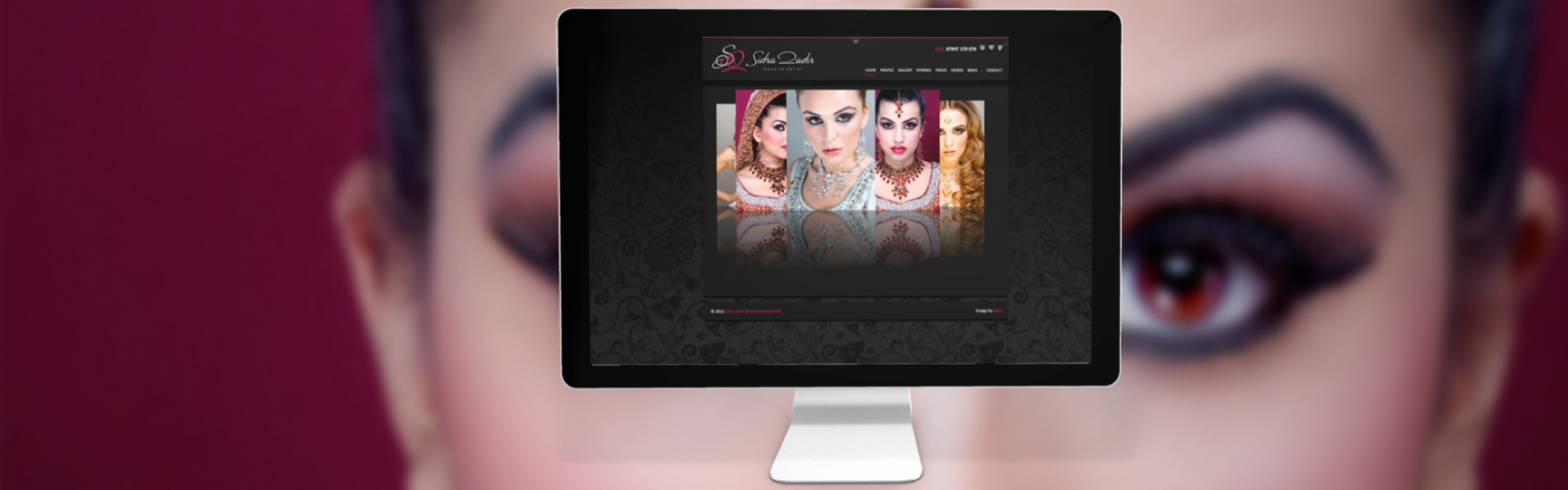 SQBM portfolio new1 - Website design for professional UK Makeup artist