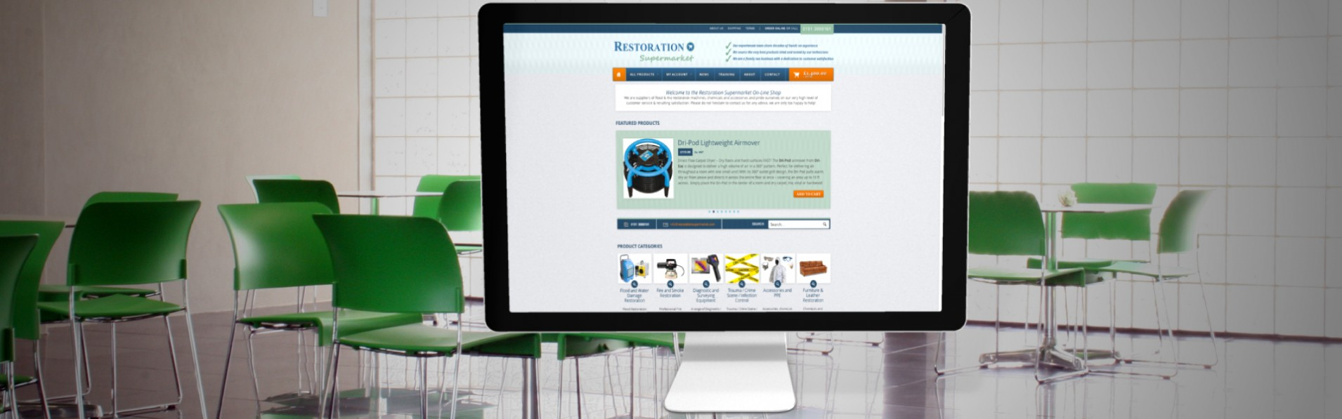 portfolio new1RSM11 - E-commerce webdesign for cleaning equipment supplier